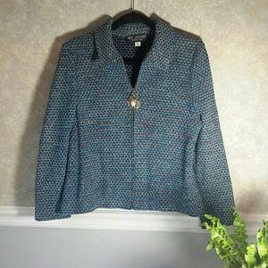 ST JOHN COLLECTION | Luxury Knit Sweater Blazer